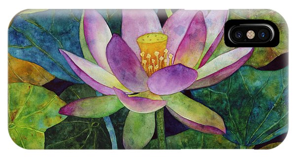 Aquatic Plants iPhone Case - Lotus Bloom by Hailey E Herrera