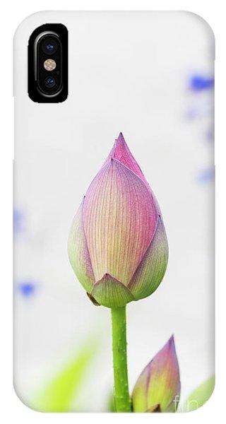 Scarlet iPhone Case - Lotus Bud by Tim Gainey