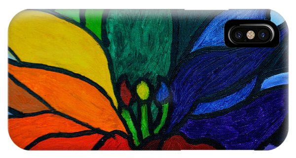 IPhone Case featuring the painting Lotus Flower 1 by Christopher  M Farris