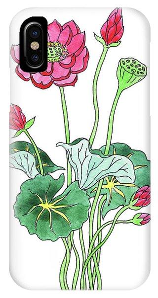 Waterlily iPhone Case - Lotus Flower Watercolor by Irina Sztukowski