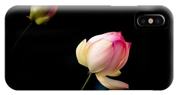 Lotus On Black IPhone Case