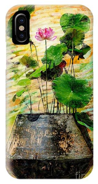 Oxide iPhone Case - Lotus Tree In Big Jar by Atiketta Sangasaeng