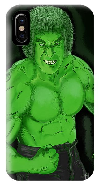 Lou Ferrigno's Hulk Phone Case by Joseph Burke