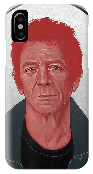 IPhone Case featuring the painting Lou Reed 2 by Jovana Kolic