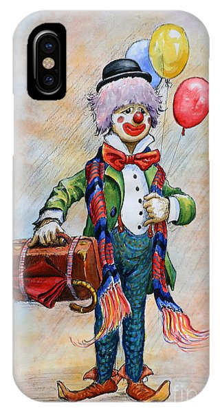 iPhone Case - Lou The Clown by Anthony Forster