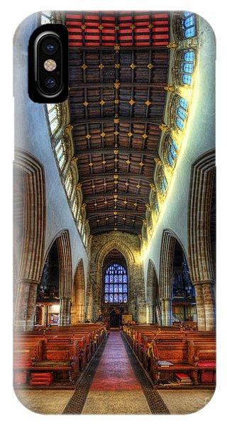 Loughborough Church - Nave Vertorama IPhone Case