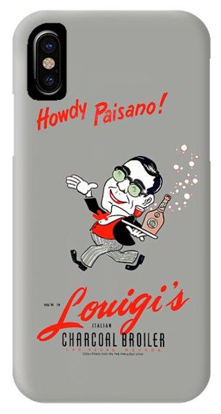 Menu iPhone Case - Louigis Las Vegas 1960 by Mark Rogan