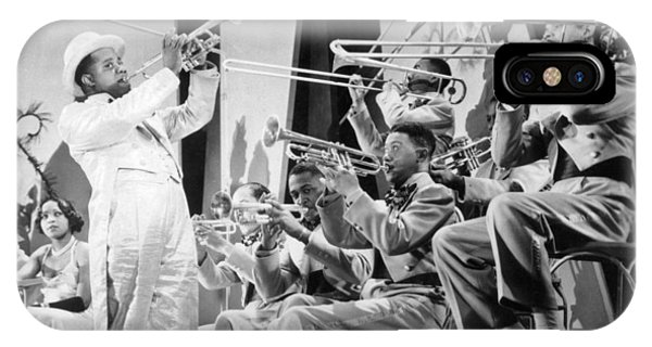 Trombone iPhone X Case - Louis Armstrong by American School