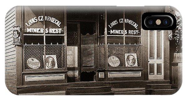 Louis Czarniecki Miners Rest 209 George Ave Parsons Pennsylvania IPhone Case