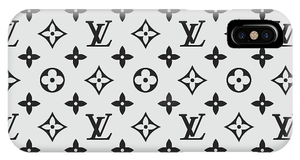 Glamour iPhone Case - Louis Vuitton Pattern Lv 07 Grey by TUSCAN Afternoon