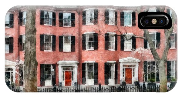 Louisburg Square Beacon Hill Boston IPhone Case