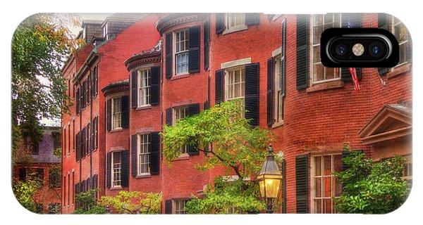 Louisburg Square - Beacon Hill Boston IPhone Case