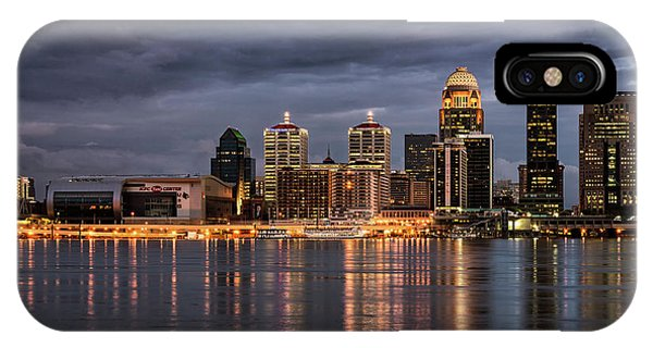 IPhone Case featuring the photograph Louisville At Dusk by Andrea Silies