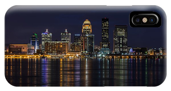 IPhone Case featuring the photograph Louisville Skyline by Andrea Silies