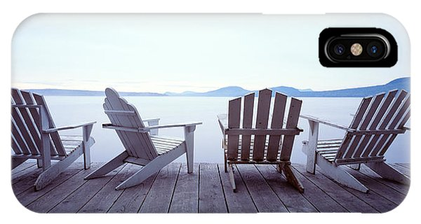 Porches iPhone Case - Lounge Chairs Moosehead Lake Me by Panoramic Images