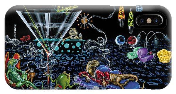 Martini iPhone Case - Lounge Lizard by Michael Godard