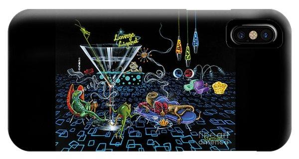 Grasshopper iPhone Case - Lounge Lizard by Michael Godard