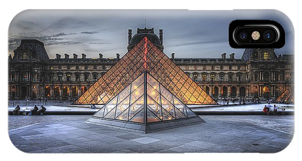 IPhone Case featuring the photograph Louvre At Dusk by Ryan Wyckoff
