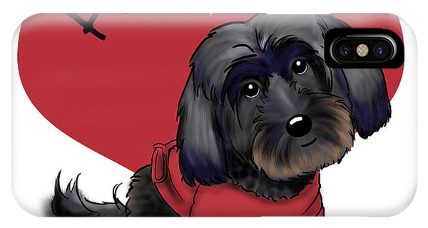 Lovable Black Havanese IPhone Case