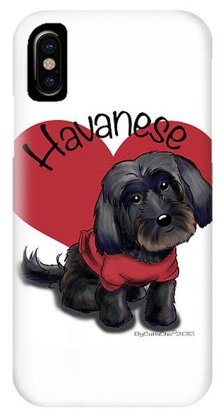 Lovable Black Havanese IPhone Case