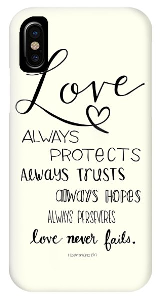 IPhone Case featuring the drawing Love Always by Nancy Ingersoll