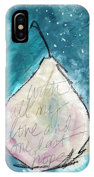 Love And Hope Pear- Art By Linda Woods IPhone Case
