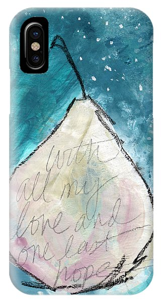 Pear iPhone Case - Love And Hope Pear- Art By Linda Woods by Linda Woods