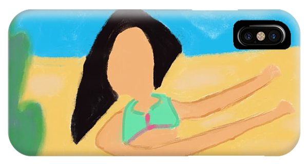 The Art Of Gandy iPhone Case - Love And Prayers To Hawaii by Joan Ellen Gandy