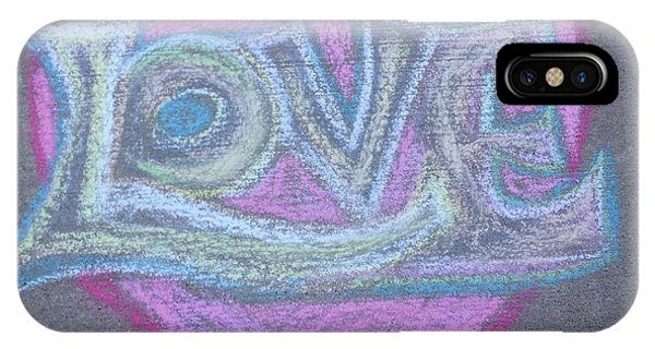 IPhone Case featuring the pastel Love by Andrea Love
