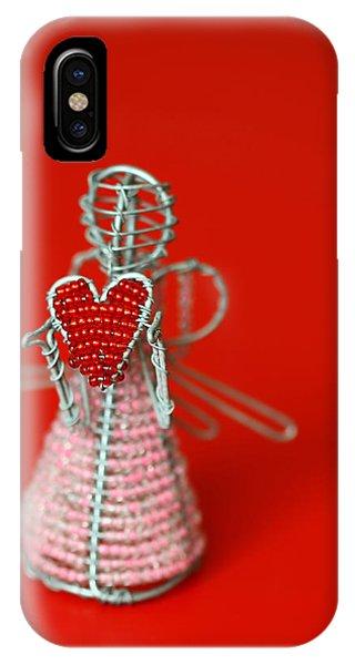 Metal iPhone Case - Love Angel by Evelina Kremsdorf