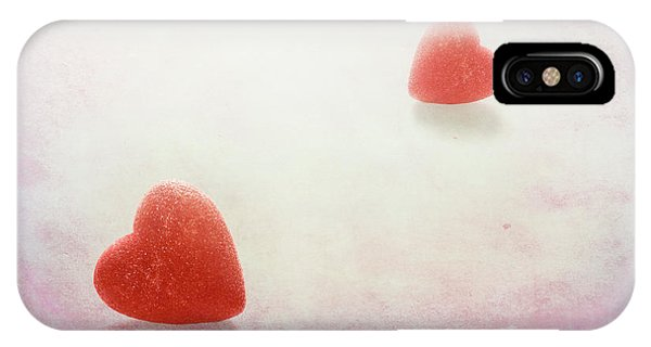 Red Heart iPhone Case - Love At First Sight by Tom Mc Nemar