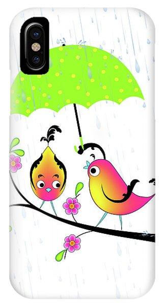 Love Birds In Rain IPhone Case