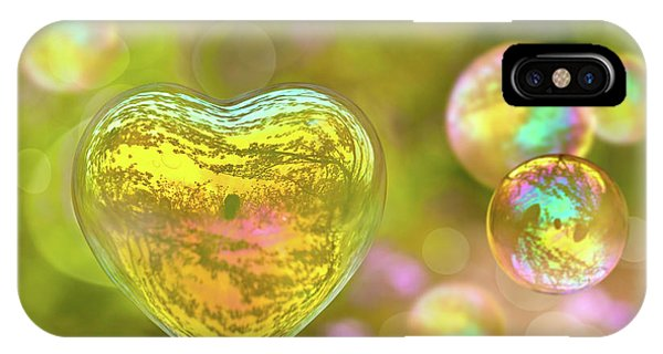 I Love You iPhone Case - Love Bubble by Delphimages Photo Creations