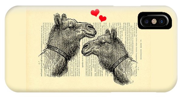 Cupid iPhone Case - Love Camels by Madame Memento