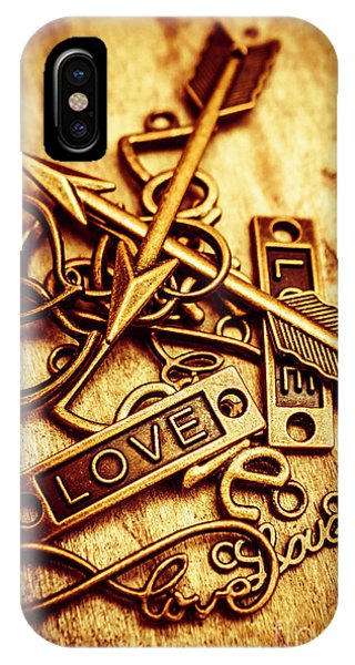 Romantic Background iPhone Case - Love Charms In Romantic Signs And Symbols by Jorgo Photography - Wall Art Gallery