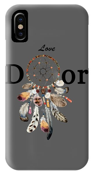 IPhone Case featuring the painting Love Dior Watercolour Dreamcatcher by Georgeta Blanaru