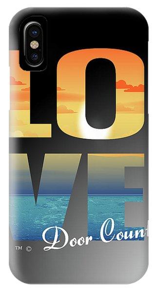 Love Door County IPhone Case