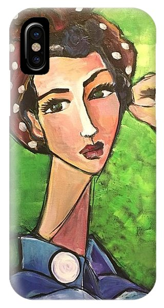 IPhone Case featuring the painting Love For Riveters by Laurie Maves ART