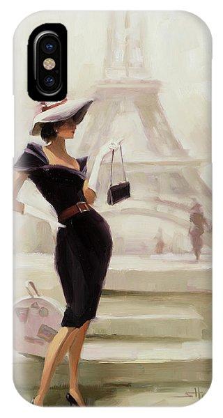 Eiffel Tower iPhone Case - Love, From Paris by Steve Henderson