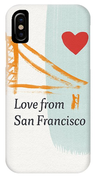 Love From San Francisco- Art By Linda Woods IPhone Case