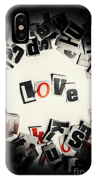 Style iPhone Case - Love In Letters by Jorgo Photography - Wall Art Gallery