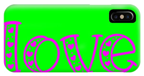 Love In Magenta And Green IPhone Case