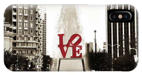 Love iPhone Case - Love In Philadelphia by Bill Cannon