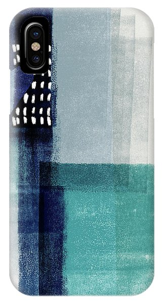 Teal iPhone Case - Love In Shades Of Blue- Abstract Art By Linda Woods by Linda Woods