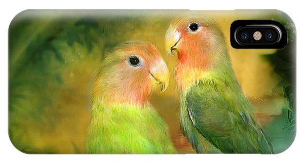 Love In The Golden Mist IPhone Case