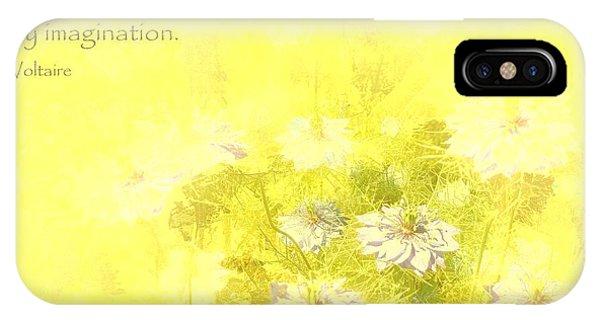 Love Is A Canvas - Nigella Damascena IPhone Case