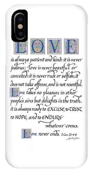 Love Is Always Patient IPhone Case
