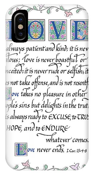 Love Is Always Patient-with Border IPhone Case