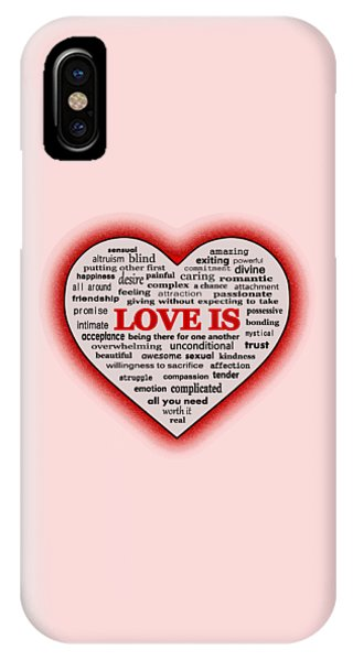 Altruism iPhone Case - Love Is by Anastasiya Malakhova
