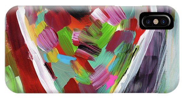 Red Heart iPhone Case - Love Is Colorful 3- Art By Linda Woods by Linda Woods